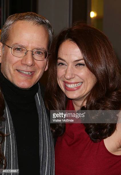 Campbell Scott and Kathleen McElfresh attend the Broadway opening night of Machinal at American Airlines Theatre on January 16 2014 in New York New...