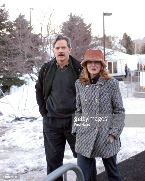 Campbell Scott and Patricia Clarkson during 2005 Sundance Film Festival The Dying Gaul Premiere at Racquet Club in Park City Utah United States