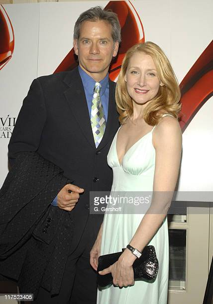 Campbell Scott and Patricia Clarkson wearing Bianca Nero