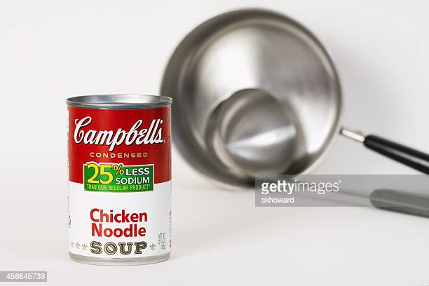 Campbell's Chicken Noodle Soup with Kettle and Ladle