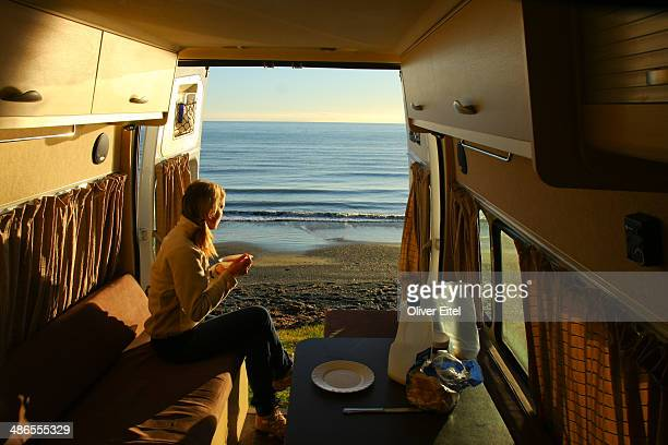 Camper Breakfast at the Ocean