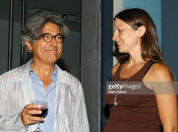 Camper founder Lorenzo Fluxa and Justine Bateman during Camper Store Opening Party at Camper Store in Los Angeles California United States