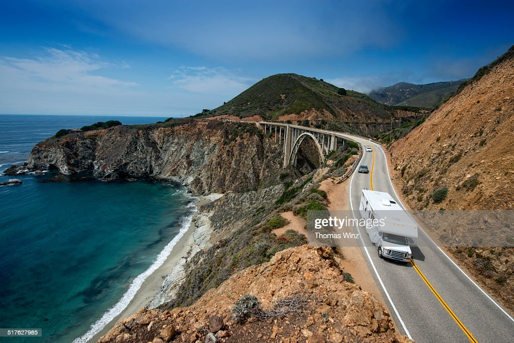 Camper Rv On Highway 1 Stock Photo Getty Images
