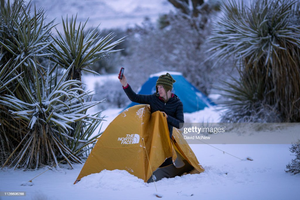 CA: Rare Snow Falls On Joshua Tree Decreasing California Drought