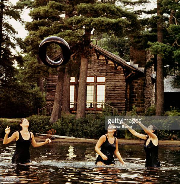 Campers are photographed for Vanity Fair Magazine on August 18, 1996 at Camp Uncas, in the Adirondacks in Mohegan Lake, New York. PUBLISHED IMAGE....