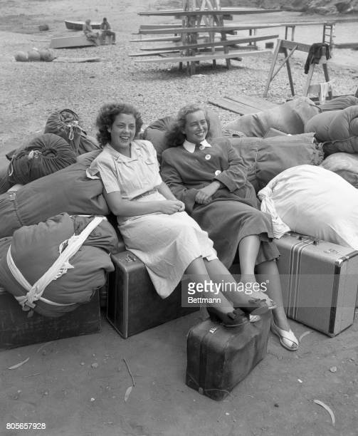 Campers arrive with their belongings for the tenday training at Catalina Island