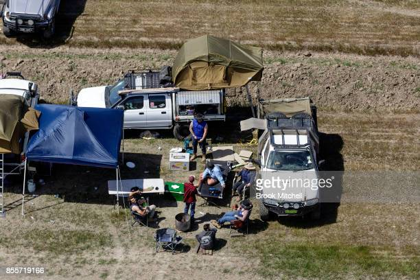 Campers at the 2017 Deni Ute Muster on September 30 2017 in Deniliquin Australia The annual Deniliquin Ute Muster is the largest ute muster in...