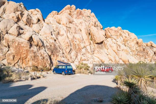 Campers in Joshua Tree National Park California