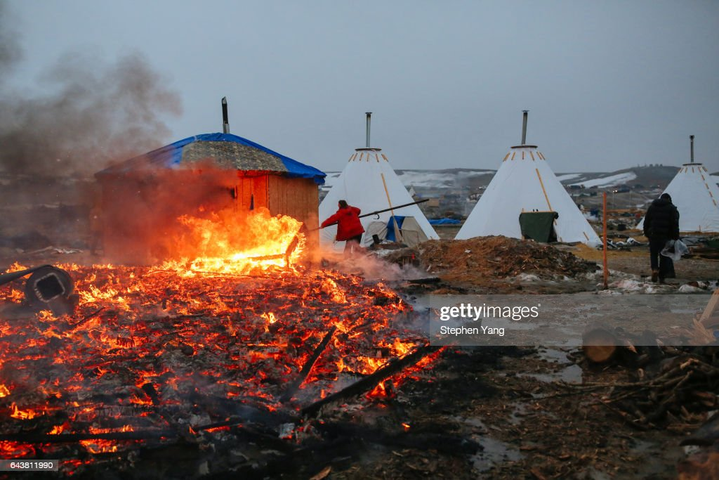Deadline Looms For Standing Rock Dakota Access Pipeline Protesters To Vacate Camp : News Photo