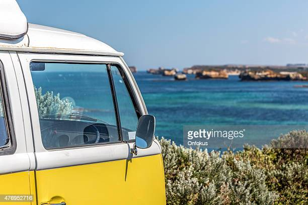 Campervan along The Great Ocean Road, Victoria, Australia