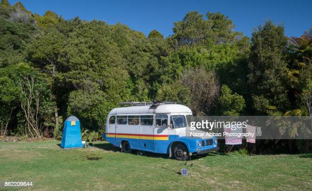 Campervan in a campground.
