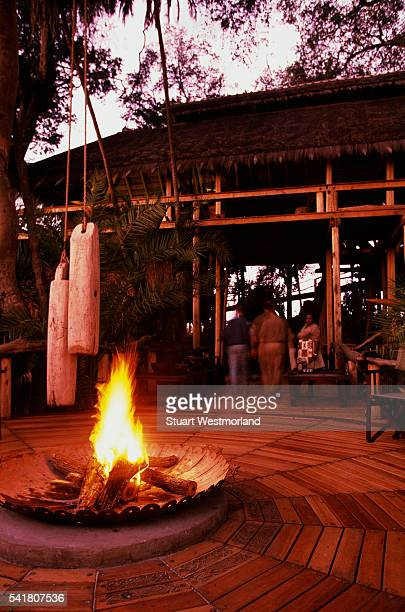 Campfire and Patio at Jao Camp