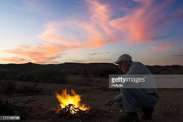 Campfire in the Outback