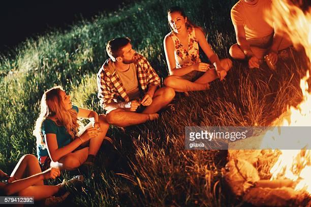Campfire storytelling.