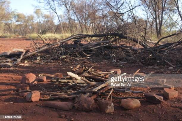 camping and outdoor fire pit firewod - rafael ben ari fotografías e imágenes de stock