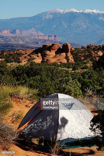 Camping at Arches National Park, Utah