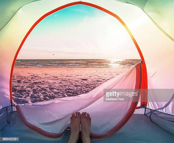 Camping at beach