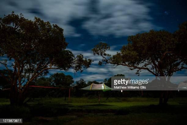 camping at el karama eco lodge, laikipia county, kenya - night safari stock pictures, royalty-free photos & images