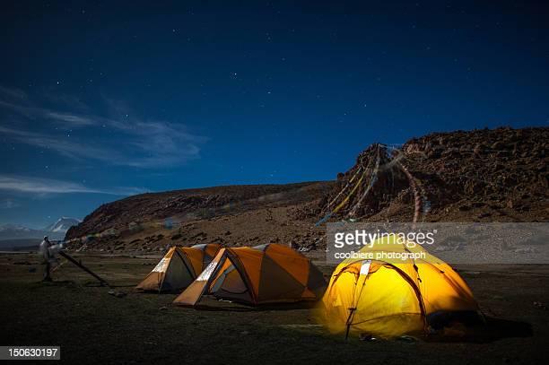 Camping at Manosarovar lake