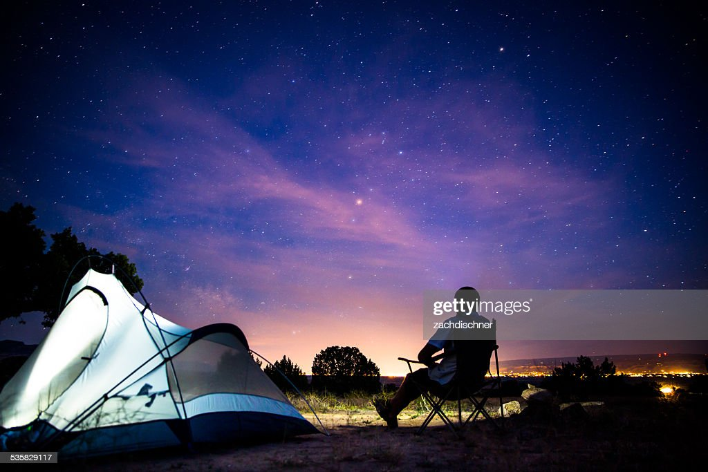 Camping at night : Stock Photo