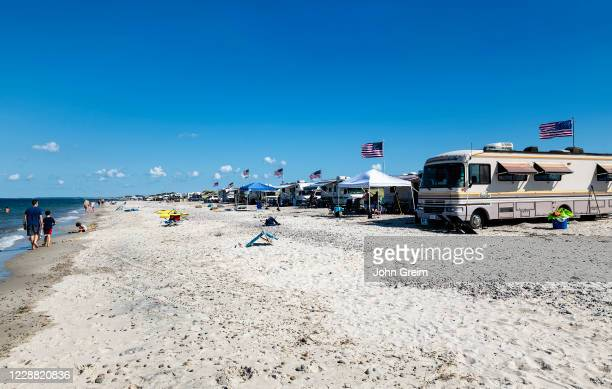 Camping at Sandy Neck Beach Park on Cape Cod.