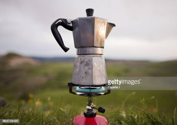camping - café italien - italien food stock pictures, royalty-free photos & images