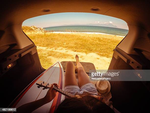 camping in my van - mini van stock pictures, royalty-free photos & images