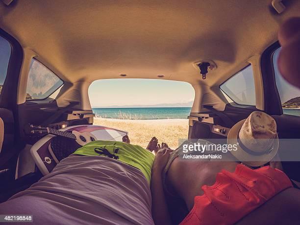 Camping im van