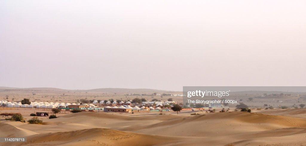 Camping In Thar Desert : Stock Photo