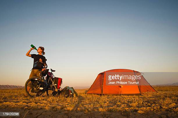 Camping in the Desert in Iran
