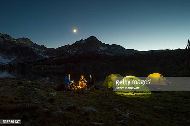 camping in the mountains - venus planet stock pictures, royalty-free photos & images