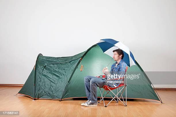 Camping im Regen