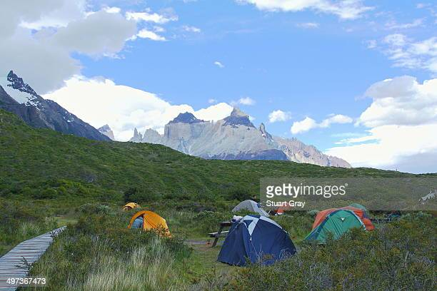 Camping in Torres del Paine, Chile