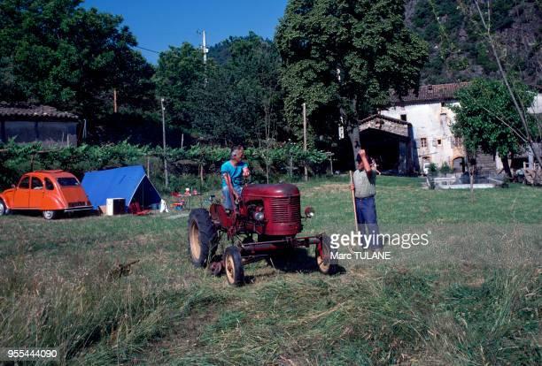 Camping à la ferme à Saint-Jean-du-Gard, dans les Cévennes, France.