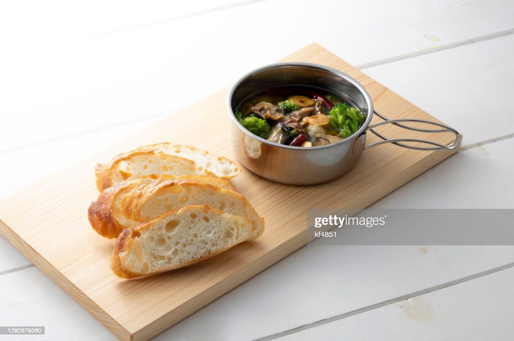 camping meal : Stock Photo