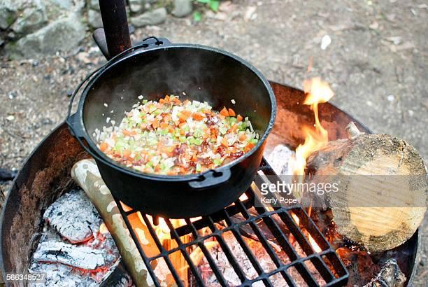 camping - ダッチオーブン ストックフォトと画像