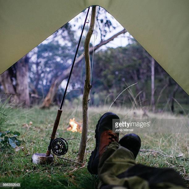camping - 防水シート ストックフォトと画像