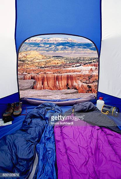 Camping Tent and Bryce Canyon