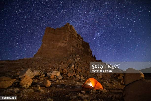 camping under the stars in canyon country utah - state park stock pictures, royalty-free photos & images