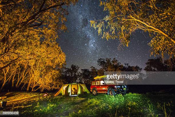 Camping under the stars in the outback