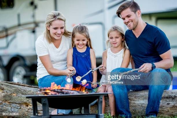camping with family - camping stock pictures, royalty-free photos & images