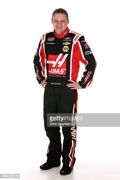 Camping World Truck Series driver Cole Custer poses for a portrait during the 2015 NASCAR Media Day at Daytona International Speedway on February 12...