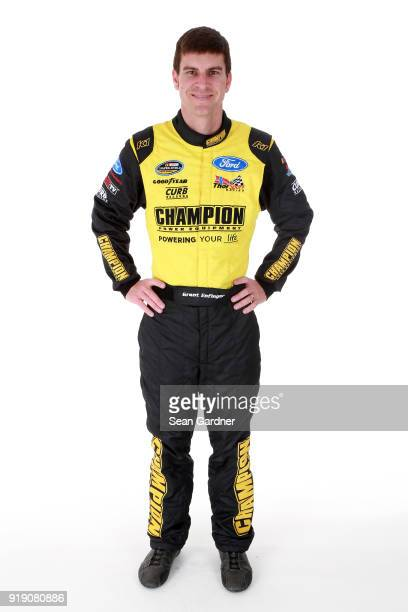 Camping World Truck Series driver Grant Enfinger poses for a portrait at Daytona International Speedway on February 15 2018 in Daytona Beach Florida