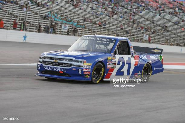 Camping World Truck Series driver Johnny Sauter leaves pit road during the PPG 400 on June 8 2018 at Texas Motor Speedway in Fort Worth TX