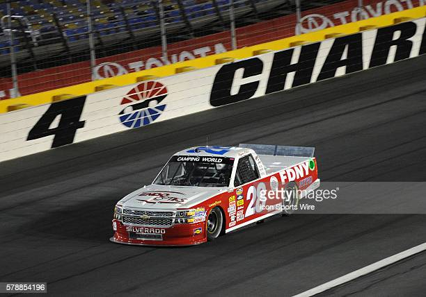 Camping World Truck Series driver Ryan Ellis in turn four during the N.C. Education Lottery 200 at Charlotte Motor Speedway in Charlotte,NC.