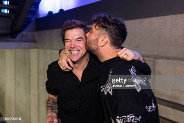 Campino and Marteria are seen during the 1Live Krone radio award at Jahrhunderthalle on December 05 2019 in Bochum Germany