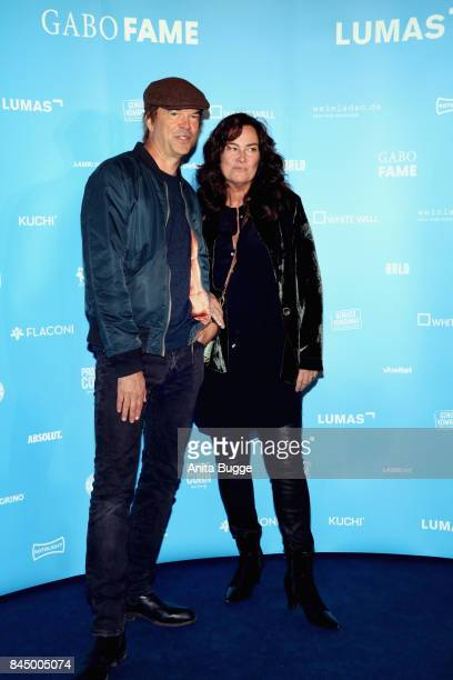 Campino and photographer Gabo attend the opening of the exhibition 'Gabo Fame' at HumboldBox on September 9 2017 in Berlin Germany