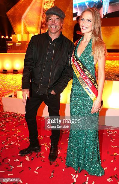Campino Olga Hoffmann Miss Germany 2015 during the LEA Live Entertainment Award 2015 at Festhalle Frankfurt on April 14 2015 in Frankfurt am Main...