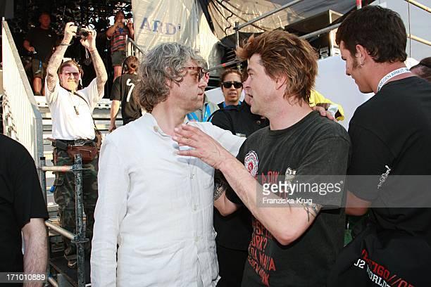 Campino Von Den Toten Hosen Und Bob Geldof Beim Festival 'Deine Stimme Gegen Armut' In Rostock Am Rande Des G8 Gipfels Am 070607