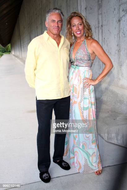 Campion Platt and Tatiana Platt attend the 2018 Parrish Art Museum Midsummer Party at the Parrish Art Museum on July 14 2018 in Water Mill New York